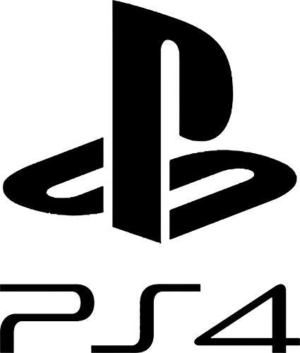 Playstation - Plantilla de vinilo adhesivo decorativo para pared, tamaño pequeño, 39 cm de alto x 31 cm de ancho, color rojo oscuro