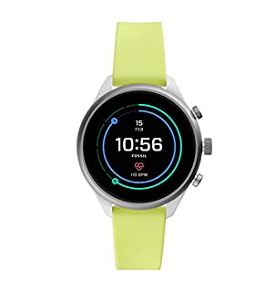 Fossil Women's Gen 4 Sport Heart Rate Metal and Silicone Touchscreen Smartwatch, Color: Neon Green (FTW6028) (B07HB63FML)   Amazon price tracker / tracking, Amazon price history charts, Amazon price watches, Amazon price drop alerts