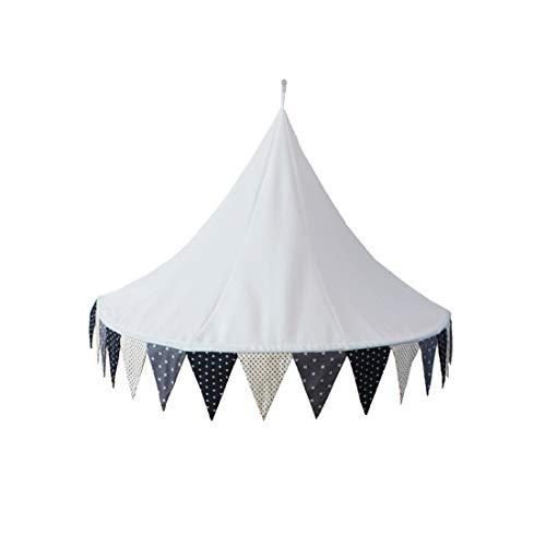 LWKBE Demi-Lune Coin Tente de lit de bébé lit auvent Couvert dôme intérieur Princesse château Tente de Coton Suspendu pour bébé Enfants Lecture Jouer à des Jeux Blanc (Seulement Une Tente),Blackwhite