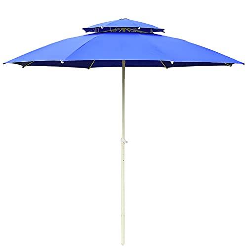 Sombrillas para Patio Sombrilla de patio con 3 capas Costillas a prueba de viento, 9 pies Paraguas de mercado Sombrilla de mesa de jardín al aire libre por Jardín/ Patio interior/ Piscina, 8 costillas