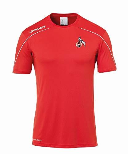 uhlsport Herren 1.FC KÖLN Stream 22 Training T-Shirt Fanartikel, rot-weiß, 116