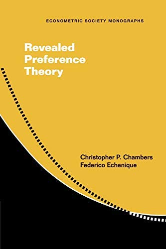 Revealed Preference Theory (Paperback)