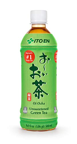 Ito En Tea Oi Ocha Green Tea, Unsweetened, 16.9 Ounce (Pack of 12)