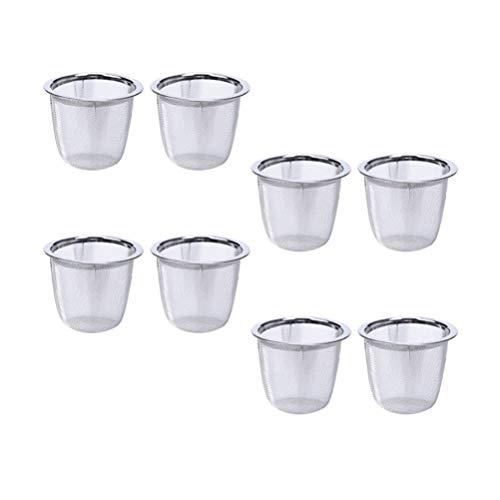 Cabilock 8 Stück Edelstahl Teekugel Aufguss Feinmaschiges Teesieb Teefilter Diffusor Kochaufguss für Lose Blätter Blätter Gewürze Würzen