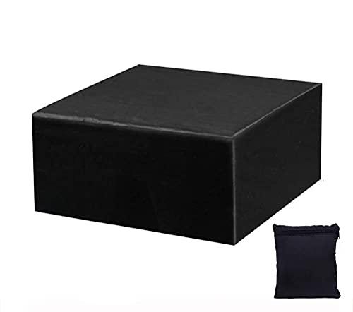 Gartenmöbelabdeckung, Outdoor-Tischabdeckung Hochleistungs-wasserdichter Rip-Proof-Oxford-Gewebe-Terrassenabdeckung, winddichter Anti-UV-Schnee mit Kordelzug für rechteckige Cube-Tabellenabdeckungen