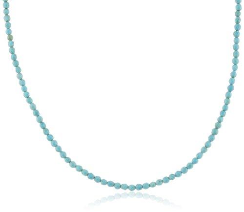 Engelsrufer Howlith Kette für Damen rhodiniertes 925er-Sterlingsilber Länge 80 cm