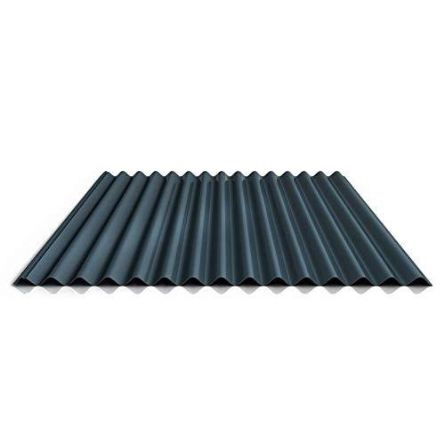 Wellblech | Profilblech | Dachblech | Profil PS18/1064CR | Material Stahl | Stärke 0,50 mm | Beschichtung 35 µm | Farbe Dunkelgrau