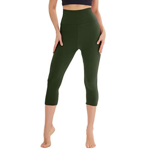 Leggings de Cintura Alta para Mujer: Pantalones de Yoga para Adelgazar Que controlan la Barriga Suave Capri y Pantalones de Yoga atléticos de Entrenamiento de Cuerpo Entero