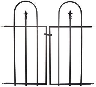 Panacea 87501 Black Triple Arch Garden Gate, 37