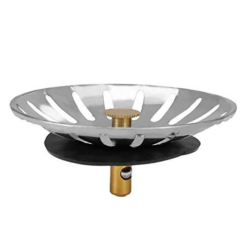 RoxTop Universal Kitchen Sinks Stopper Edelstahl Waschbecken Deckel Dishpan Drainer Chock Plug Ersatz Filterkorb für den Haushalt; Stahl Farbe, 78 * 78 * 37MM