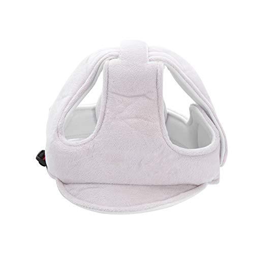 Casco di sicurezza per bebè bambino regolabile Cappuccio di sicurezza paracollo protettivo per berretto Cappuccio di protezione per testa Cappello berretto con simpatico cartone (grigio)
