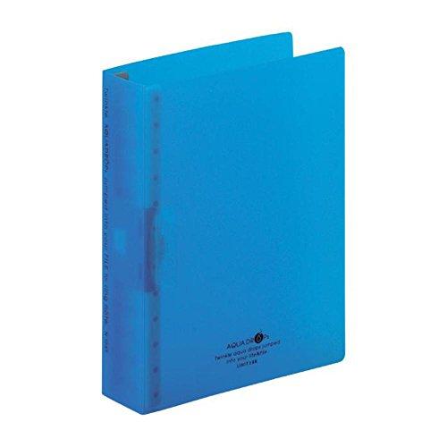 リヒトラブ リングノート 保存用 ファイル A5S 24穴 青 N1645-8