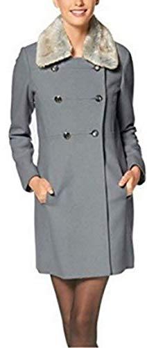 Jessica Simpson mantel met bontkraag dames