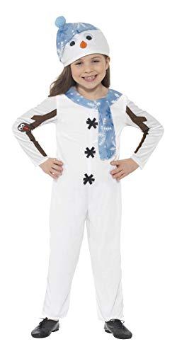 SMIFFYS Costume Pupazzo di neve per neonato, Bianco, con tuta e cappello