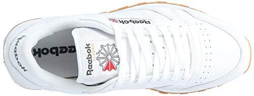 Reebok Cl Lthr, Men's Training Running, White (Intense White/Gum), 9 UK (43 EU)