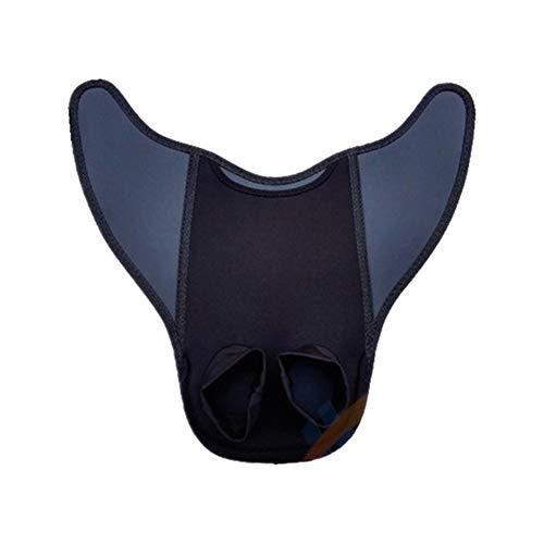 TSAUTOP Newest Flexible Comfort portátil Piscina Aletas del pie Aletas de natación Aletas Cola de la Sirena de Buceo Aletas Snorkel Sumergible Adulto/Menor (Color : Black, Size : Adult)