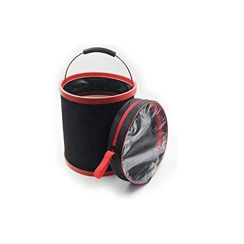 ADSE Multi-Function Folding Car Wash Bucket, Bucket, Car Storage Bucket, Fishing Bucket, Car Wash Tool, Thickening, 13L, Car Supplies, Black Portable Folding