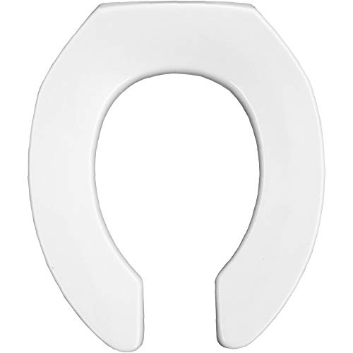 BEMIS 2055SSCT 000 Commercial Heavy Duty Open Front Toilet Seat without Cover that will never slam, never loosen & Reduce Call-backs, ROUND, Plastic, White