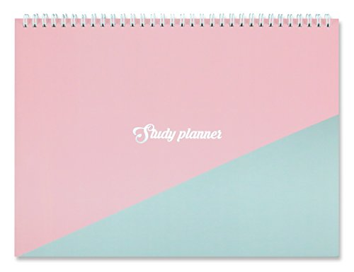 """Miliko A4 One Semester Study Planner/Organizer-11.7"""" x8.4 Planner Sticker Included(Pink)"""