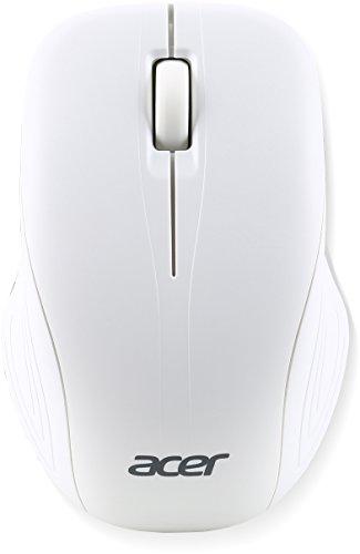 Acer NP.MCE1A.007 RF inalámbrico Óptico 1000DPI Ambidextro Plata, Color blanco - Ratón (RF inalámbrico, Travel, Botones presionados, Rueda, Óptico, 1000 DPI)