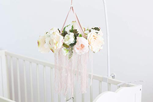 Floral Crib Mobile Baby Chandelier Flower Dreamcatcher Baby...