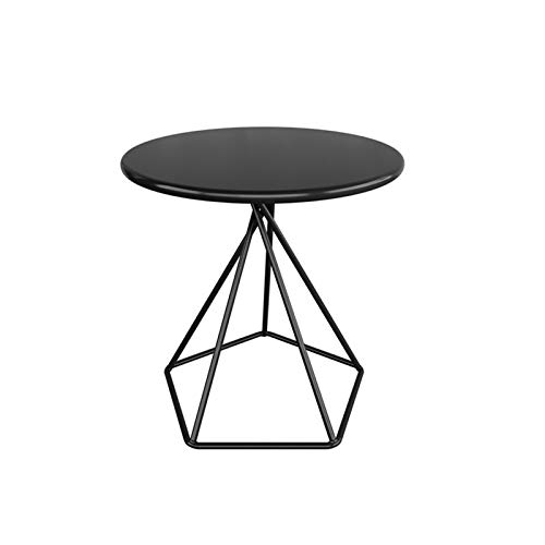 DUTUI Coffee Table, Living Room, Sofa Corner, Small Side Table, Bedroom Round Table,Grand Patio Steel Patio Side Table, Weather Resistant Outdoor Round End Table