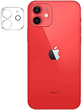 Tough Lee Camera Lens Protector Tempered Glass for Apple iPhone 12 (Transparent) with Easy Installation Kit; Pack of 1