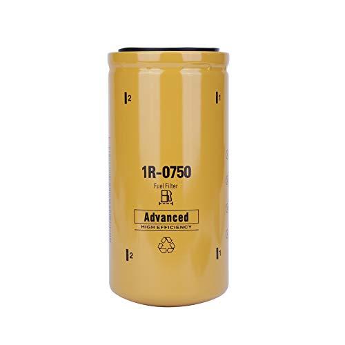 1R-0750 Diesel Engine Fuel Filter,Fit for Chevy/GMC Duramax 2001-2016 LB7/LML/LMM Caterpillar 1R0750,Donaldson P551313,Baldwin BF7633,Fleetguard FF5320,Wix 33528 Caterpillar 1R0750