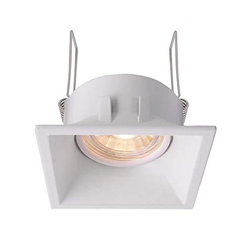 kapego Bague à encastrer au plafond, auva carré, spannungskonstant, 12 V AC/DC, GU5.3/MR16, 35 W blanc mat Classe d'efficacité énergétique?: A + + – E