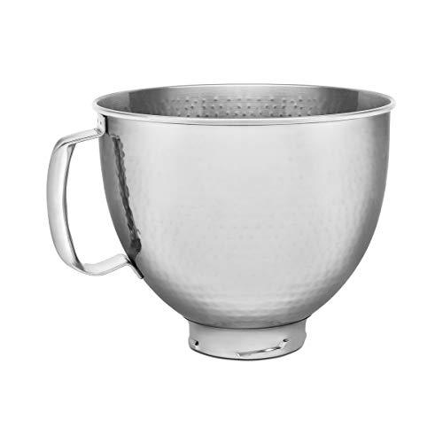 KitchenAid KSM5SSBHM Hammered Stainless Steel Stand Mixer Bowl, 5 quart