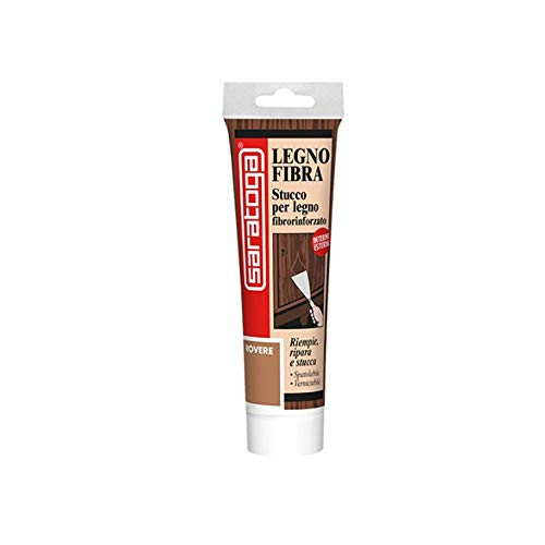 Stucco per Legno fibrorinforzato in pasta inodore 125 ml - Varie Colorazioni (Rovere)