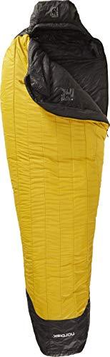 Nordisk - Oscar Schlafsack, Leichter Kunstfaser-Schlafsack mit kleinem Packmaß, Innovative Tube-Konstruktion, Grösse XL, -10 Grad, Gelb