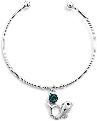 ZHIFUBA Co.,Ltd Collar Mujer Collar Personalidad Pulsera Abierta Mujer Pulsera Dolphin Zircon
