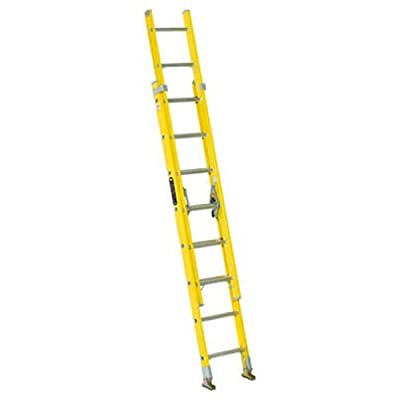 Louisville Ladder Fiberglass Extension Ladder, Type I, 250 Pound Duty Rating