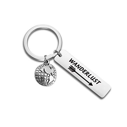 WUSUANED Wanderlust Arrow Keychain Jewelry for Wanderer Traveler Adventure Gift (Wanderlust Keychain)