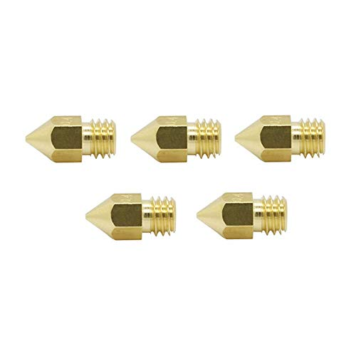 ANYCUBIC 3D Drucker Düse 5 Pcs, FDM-Universaldüse, 0,4 mm Extruder Nozzle with m6 thread für 1.75 mm Filament 3D Drucker, für Chiron/i3 Mega