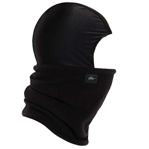 Turtle Fur Chelonia 150 Fleece Shellaclava Balaclava with Attached Neck Warmer, Black