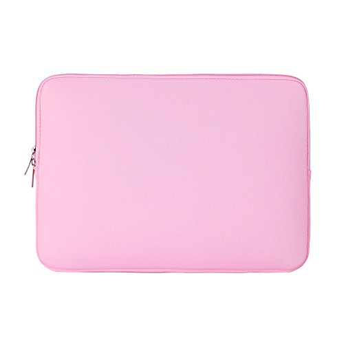 RAINYEAR 11-11.6 Inch Laptop Sleeve Protective Case Soft Carrying Computer Zipper Bag Cover Compatible with 11.6' MacBook Air for 11' Notebook Tablet Ultrabook Chromebook(Pink)