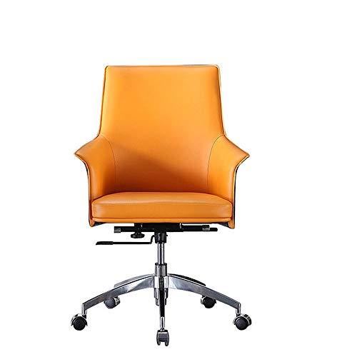 KDOAE Sillas de Escritorio Silla de Oficina Silla de Escritorio Brazalete de rotafolio Silla de Trabajo ergonómica Compacto para la Oficina en Casa (Color : Orange, Size : One Size)