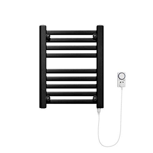 DYB Toallero con calefacción eléctrica - Montaje en Pared, Rejilla para Secado de Toallas a Temperatura Constante, Cocina de baño + Temporizador, 200 W (Color: Negro, Tamaño: 50 * 40 * 3 cm)