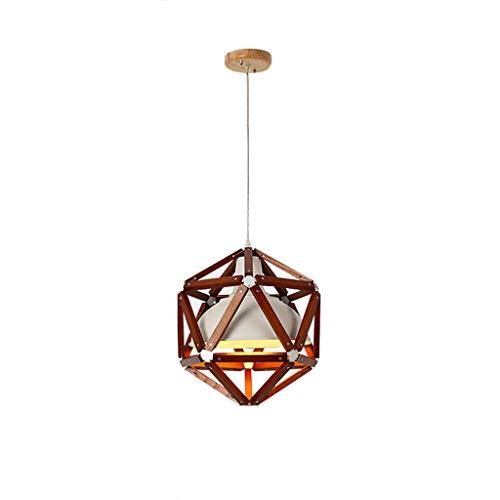 American Bar Chandelier - restaurant kantoor thuis ijzeren houtkroonluchter creatieve verlichting (zonder lichtbron) B