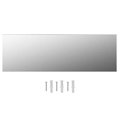 specchio da parete 60x120 Goliraya Specchio Senza Cornice 100x60 cm/120x30 cm/120x60 cm Specchio da Parete da Bagno in Vetro