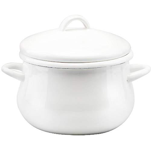 AIBAB Pot Émaillé Style Japonais Rond Casserole Pot De Complément Alimentaire 1,7 L 1 KG