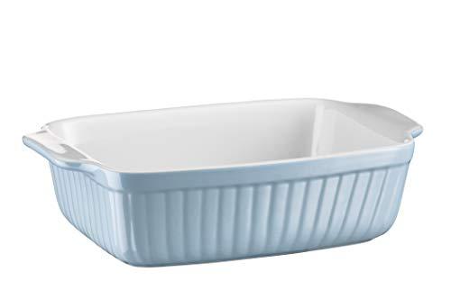 Mäser 931487 Serie Kitchen Time - Fuente para horno (rectangular, ideal para lasaña, forma de horno pequeña y tiramiu, resistente a arañazos y cortes, cerámica)