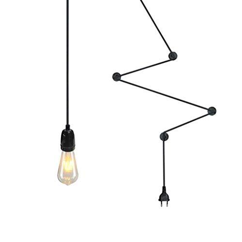NYDZ Luz Pendiente de la lámpara de Bricolaje Retro 4 M Cable con Interruptor y Enchufe de la lámpara 1 de la Llama E27 Edison Lámpara Colgante