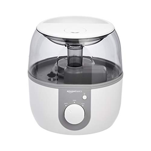Amazon Basics - Humidificador con luz nocturna y difusor de aroma, de 2 l, blanco