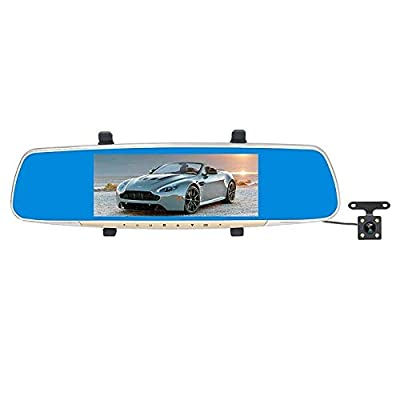CHEZAI Car Dash Cam, 7 Inch LCD 170° Touch Screen Rear View Mirror Car Recorder, Support Night Vision/Loop Video/Motion Detection/G-Sensor/TF Card by SPRIS