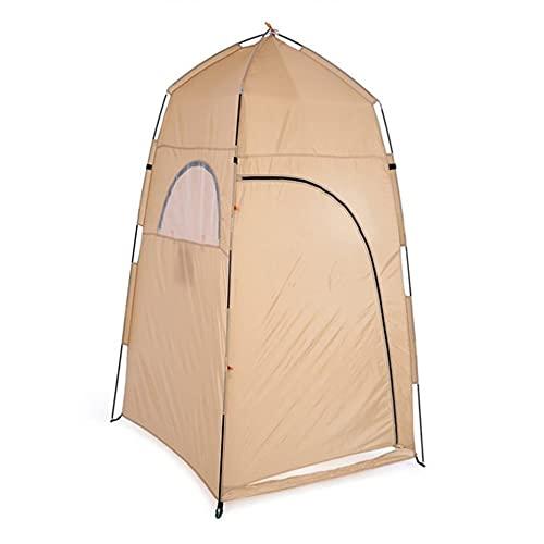 Tienda de tela de poliéster para vestuario al aire libre multifuncional y conveniente de color caqui 120 * 120 * 210 cm