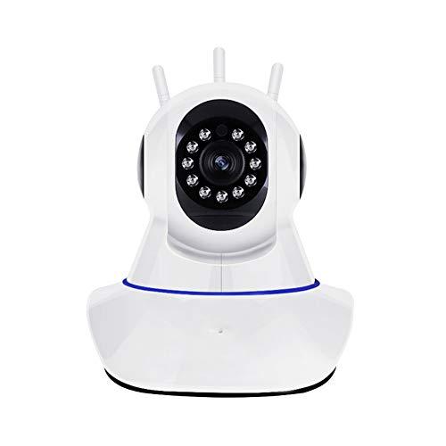 360 graden high-definition bewakingscamera draadloos infrarood nachtzicht bidirectionele stem pan-tilt rotatie netwerkscheiding opname bewegingsdetectie intelligente bewakingscamera,White,32G