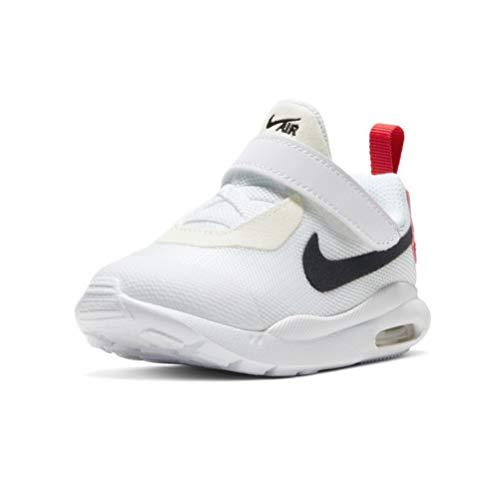 Zapatilla Nike Air Oketo BCO/Rojo Bebe 25